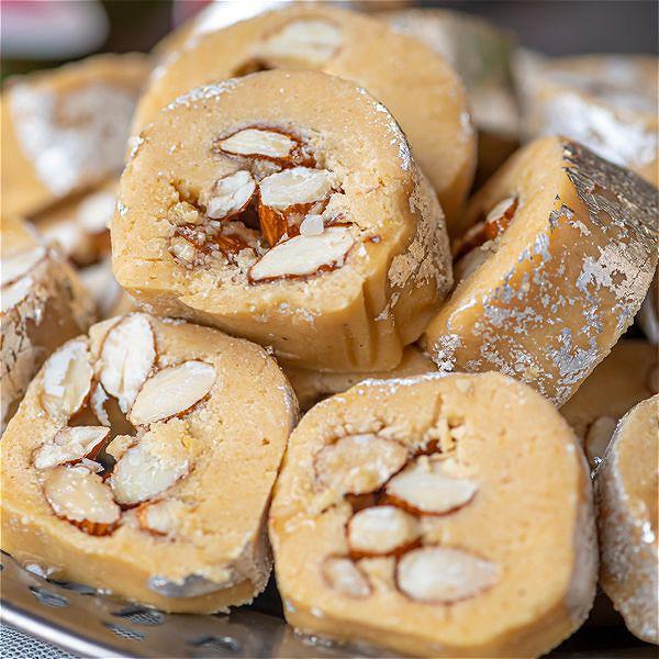 Honey Almond Barfi Rolls