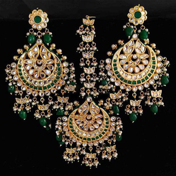 Earrings Tikka Combo 2 - Green