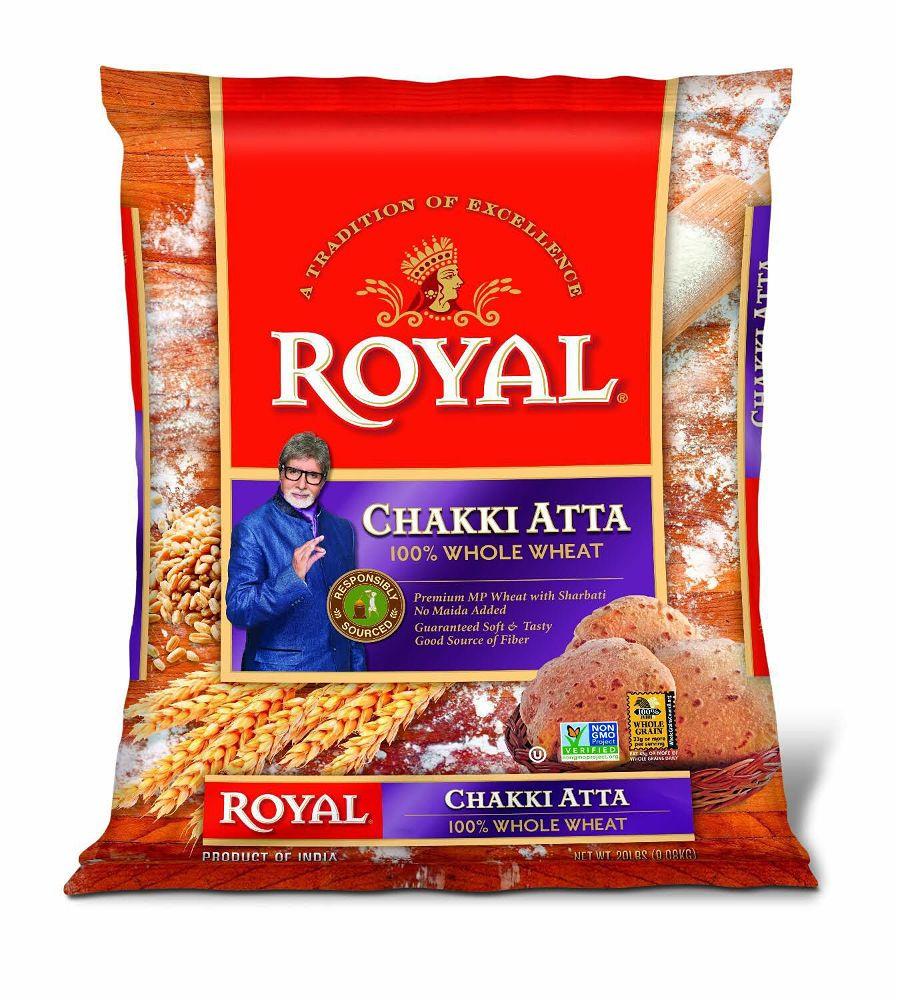 Royal 100% Whole Wheat Chakki Atta  20Lb