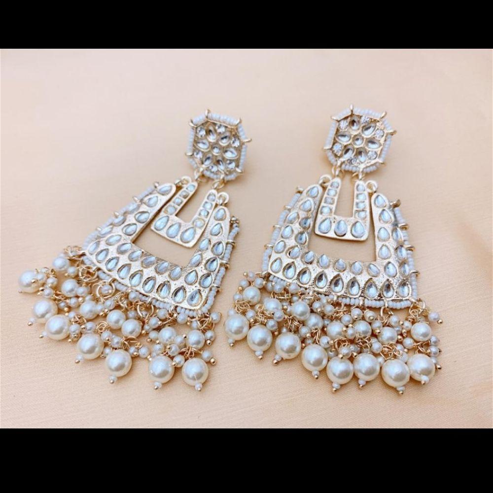 Kundan Style Earrings - Square