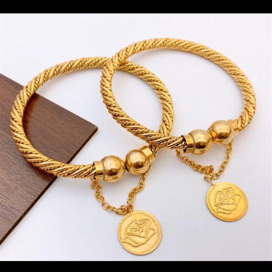 Gold Plated Bangles Pair - B