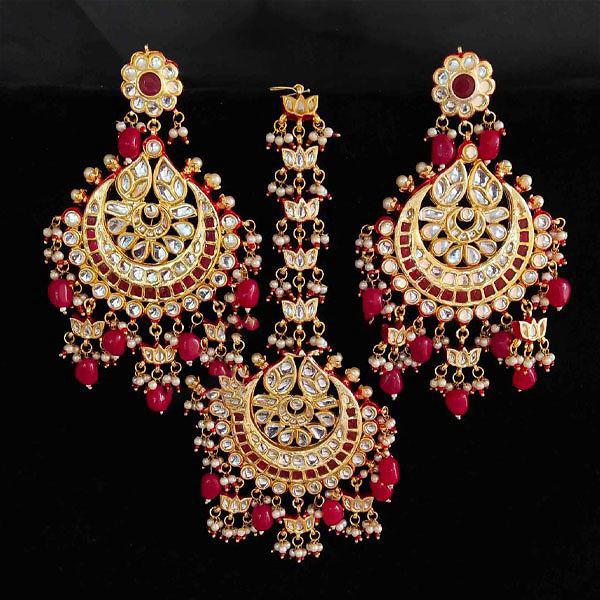 Earrings Tikka Combo 2 Red