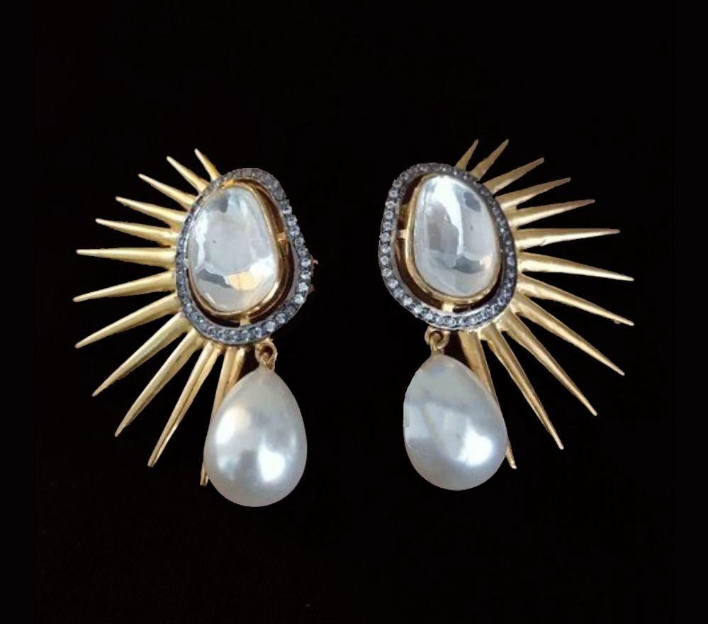 Polki Statement Earrings